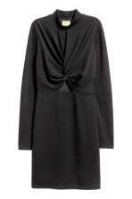 Fitted dress - Black -  | H&M CA 2